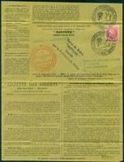 BALLON MONTE NEPTUNE 23 SEPT 1946 RARE ET TTB Papier Jaune - Marcophilie (Lettres)