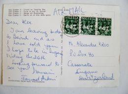 Post Card From Nigeria To Switzerland 1968 Oyo Carver - Ethiopie