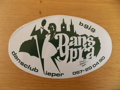 Sticker, Zelfklever, Autocollant  Dans Ypra Dansclub Ieper - Stickers