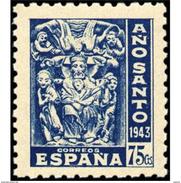 ES966STV-LTV***966STRCRI.Spain.Esgane .Religion.AÑO SANTO COMPOSTELANO.1943/5.(Ed 966**) - Cristianismo
