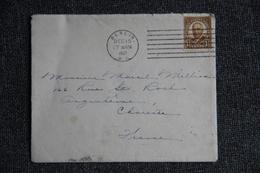 Enveloppe Timbrée Expédiée Du NEW GERSEY à ANGOULEME En 1937 Carte Avec MERRY CHRISTMAST - Poststempel