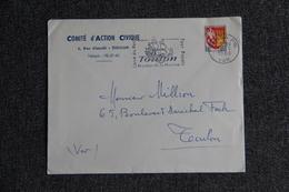 Enveloppe Timbrée TOULON, Comité D'Action Civique - Marcophilie (Lettres)