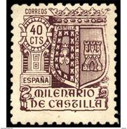 ES981STV-LTV***981STESE.Spain.Espagne .ESCUDO.MILENARIO DE CASTILLA.1943.(Ed 981**) - Sellos