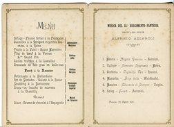 MENU' - BRESCIA 22 AGOSTO 1890 CON PROGRAMMA MUSICA 33° REGGIMENTO FANTERIA - Menus
