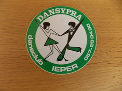 Sticker, Zelfklever, Autocollant   Dansypra Dansclub Ieper - Stickers