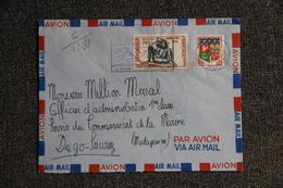 Enveloppe Timbrée Envoyée Par Poste Aérienne De TOULON à DIEGO SUAREZ ( MADAGASCAR) - Marcophilie (Lettres)