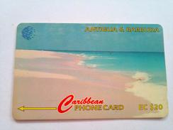 Antigua Phonecard EC$20 Pink Sand Beach 17CATC