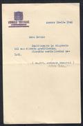 Fernando Tambroni Su Carta Filigranata Camera Dei Fasci E Delle Corporazioni Soprastampata Assemblea Costituente Doc.002 - Autographes