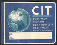 Cit Biglietti Ferroviari Carnet Vuoto  Doc.020