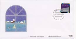 Decemberzegel 1990 Op Edel FDC - Blanco / Open Klep - FDC
