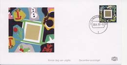 Decemberzegel 1991 Op Edel FDC - Blanco / Open Klep - FDC
