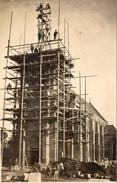 02 Le Herie La Vieville, Rare Carte Photo, Reconstruction De L' Eglise - Francia