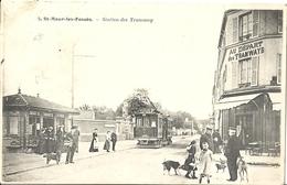 CPA St-Maur-les-Fossés Station Des Tramways - Saint Maur Des Fosses