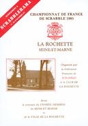 Brochure Présentant La Rochette (Seine-et-Marne) à L'occasion Du Championnat De France De Scrabble 1985 - Toerisme
