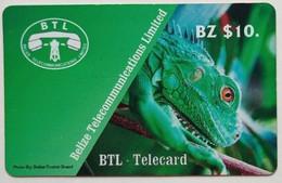 Belize Phonecard B$10 Lizard