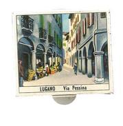 G-I-E, Tabac, Boite D'ALLUMETTES, 2 Scans, Publicité, Italie , LUGANO , Via Pessina , Gandria - Matchbox Labels