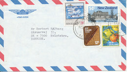 New Zealand Air Mail Cover Sent To Denmark Te Aroha17-7-1985 - Poste Aérienne