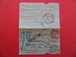 Entier Carte Pneumatique 2598 CLPP Chaplain 40c De Paris XVII Le 31/3/1920 à Paris 69 Bourse Le 31/3/1920 B/TB - Pneumatiques