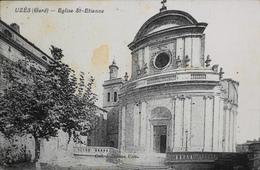 CPA - FRANCE - Uzès Est Situé Dans Le Départ. Du Gard - L'Eglise St-Etienne - BE