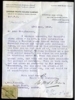 Sir Ernest Shackleton 1919 Stamp Gift Railway To Redhill Surrey - 1902-1951 (Re)