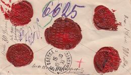 Russia Postal History. Money Letter To Mount Athos 5 Rubles From STAROMINSKAYA Krasnodar Province - 1857-1916 Imperium