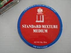Dunhill Standard Mixture Medium Turkish Tobaccos Tobacco In A Box - Contenitori Di Tabacco (vuoti)
