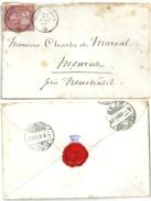 Damenbrieflein  Muri B.Bern - Monruz             1869 - 1862-1881 Helvetia Seduta (dentellati)