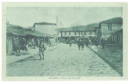 Cpa Albanie - Valona - Piazza Del Mercato - Albanie
