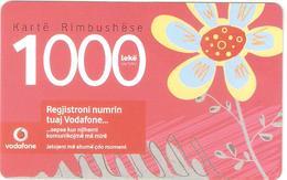 Albania-Prepaid Card By VODAFONE, Sample