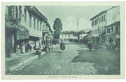 Cpa Albanie - Valona - Piazza Del Bazar - Albanie