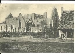 Cpa , Belgique, église En Ruine De Hollebeke, Guerre 14/18  , Feldpostkarte (128) - Belgique