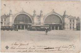 CPA:  TOURS (37):   La Gare En 1903. (tramway )      (D 143) - Tours