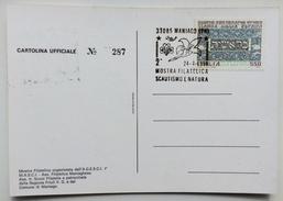 1988 MANIAGO 2^ MOSTRA FILATELICA SCAUTISMO E NATURA / SCOUT - Movimiento Scout
