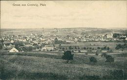 AK Contwig Bei Zweibrücken, Gesamtansicht, Um 1918l (4172) - Duitsland