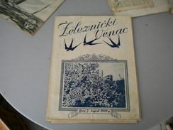Zeleznicki Venac  Railways 1938 - Libri, Riviste, Fumetti
