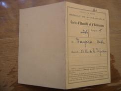 1956 Carte Identite Admission Bureau Bienfaisance DANJEAN Berthe Dijon Cote D Or - Documentos