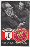 Vintage 1930's VICO Shaver Instruction Manual *b1610B28 - Materiale E Accessori