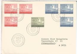 SUECIA FDC CC HIPICA JUEGOS OLIMPICOS DE 1956 DEPORTE
