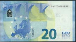 € 20 BELGIUM  ZA Z001 H5  DRAGHI  UNC - EURO