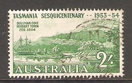 003402 Australia 1953 2/-  Tasmania FU - 1952-65 Elizabeth II : Pre-Decimals