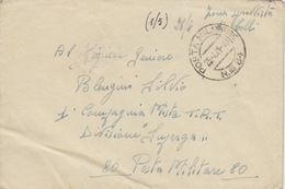 FRANCHIGIA - BUSTA - POSTA MILITARE N 84 - ZONA SPROVVISTA DI BOLLI - Oorlog 1939-45