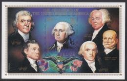 Sheet II, Belize Sc816 US Presidents, George Washington, Thomas Jefferson... - George Washington