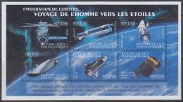 Sheet II, Malagasy Sc1540 Space Achievement, Skylab, Agena, Space Shuttle, Espace - Space