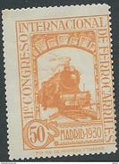 ES478STV-LFT***478STAN.Spain.Esgane.AVION,Congreso Internacional De FERROCARRILES.1930 (Ed 478**) - Exposiciones Filatélicas
