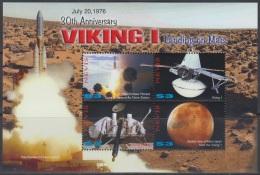 Sheet II, Nevis Sc1485 Space Achievement, Viking, Mars, Espace, Astronaute - Space