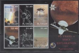 Sheet II, St. Vincent Sc3642 Space Exploration, Satellite, Viking 1, Rocket, Espace