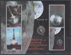 Sheet II, St. Vincent Sc3644 Space Exploration, Satellite, Luna 2, Rocket, Espace