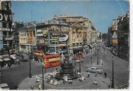 INGHILTERRA - LONDRA - PICCADILLY CIRCUS - ANNI 50 - VIAGGIATA FRANCOBOLLO ASPORTATO - Piccadilly Circus