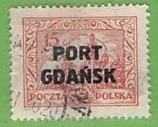 MiNr.14  O Deutschland Freie Stadt Danzig  Port Gdansk - Danzig