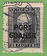 MiNr.23  O Deutschland Freie Stadt Danzig  Port Gdansk - Danzig